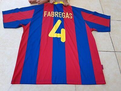 Barcelona 4 fabregas Shirt producte oficial FCB UNICEF size xxl Rogers   segunda mano  Embacar hacia Mexico