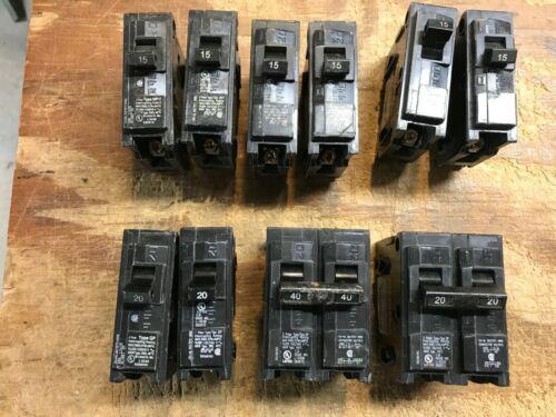 Large LOT of MURRAY & Siemens TYPE QP Circuit Breakers 10 total