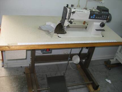 INDUSTRIAL SINGER 40 HEAVY DUTY SEWING MACHINE WITH SERVO MOTOR Delectable Sewing Machine Tables Australia