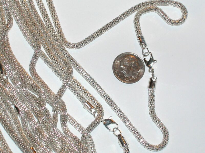 """1pc beautiful fashion Silver plated snake chain Necklaces clasp Findings 17"""" 3mm"""