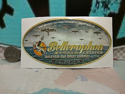 Bellerophon Travel Sticker   New    Firefly Cargo Crate   01 17