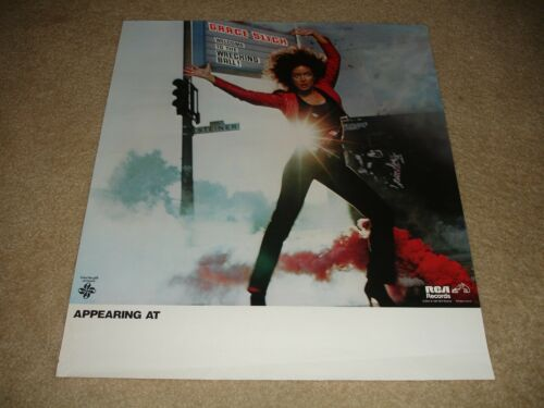 Original RCA Records 1981 Grace Slick - Welcome To The Wrecking Ball Poster
