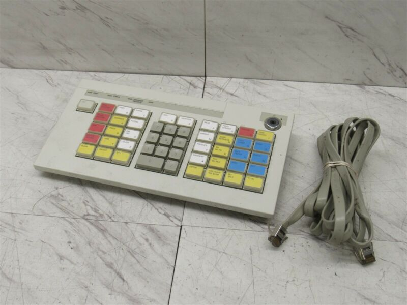 IBM POS Cash Register Keyboard 92F6310 60G4138 41J7247 41J7257 w/ Cable #5