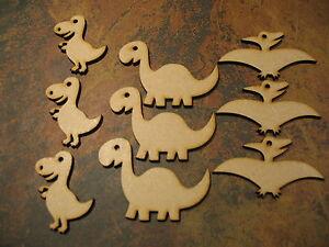 x9 MDF Dinosaur Animal Shapes, Wooden 3mm MDF , craft embellsihment