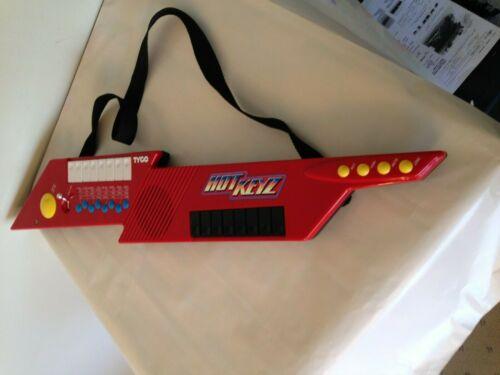 Tyco Hot Keyz Synthesizer Guitar Keyboard Keytar 1990 All working
