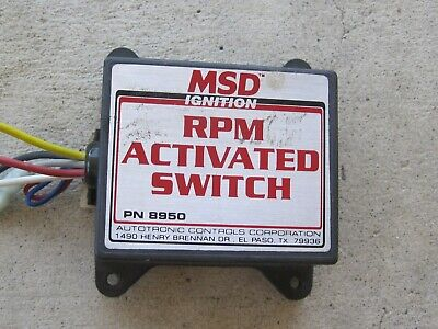 MSD RPM Switch 8950 drag boat jet dragster