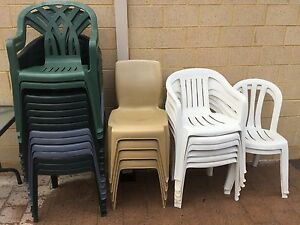 Plastic Chairs Beckenham Gosnells Area Preview
