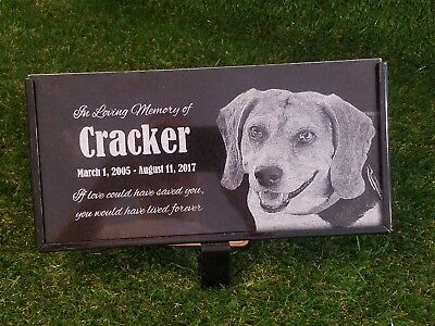 Personalized Pet Stone Memorial Grave Marker Granite Plaque Animal Human 002 Dog