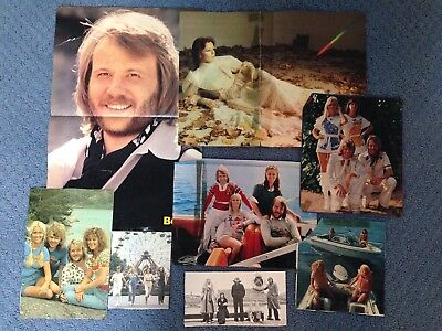 ABBA 5 lb of Cut Outs Clippings Posters from Magazines Newspapers , used for sale  Clearwater