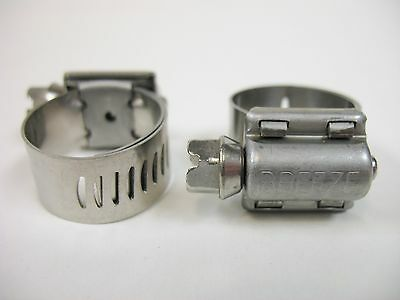 2 Breeze Hose Liner Clamps 9410 All Stainless Steel 916 to 1 116 Silicone 27mm