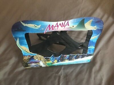 SEA WORLD MANTA Roller Coaster PICTURE FRAME Sting Ray Fish Ocean Ride Thrill