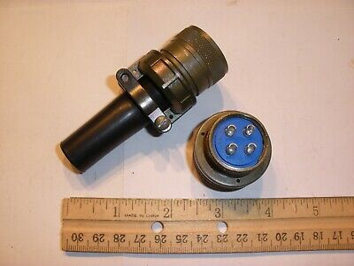New - Ms3106a 20-4s Sr With Bushing - 4 Pin Female Plug