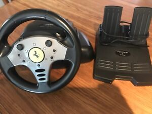 Ps2 steering wheel with pedals
