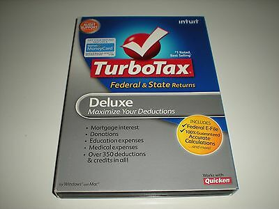 Turbotax 2009 Deluxe With State  Turbo Tax   New