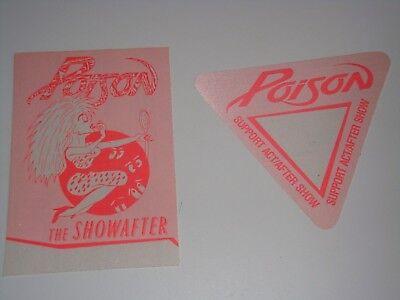 Poison 2 Unused Backstage Ticket Passes Pass Bret Michaels Rock T Bird Pink