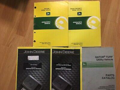 5 John Deere Gator Factory Operators Manuals Parts Catalog Xuv Hpx Utility Oem