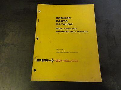 New Holland 1002-1012 Automatic Bale Wagons Service Parts Catalog Manual  11-81