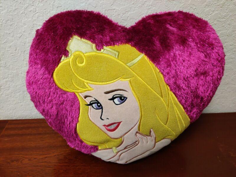 Disney Princess Pink Aurora Sleeping Beauty Plush Pillow Cushion Applique