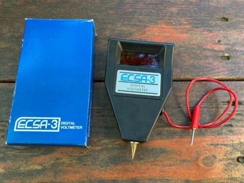 ECSA-3 Digital Voltmeter (5.75-20V) No Batteries Needed - Tested With Box