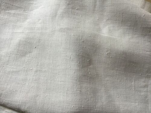 Bolt of finely handwoven German ivory linen 8 yards/32 1/4 inches wide 7 lbs.