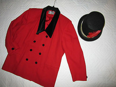 CIRCUS ringmaster red jacket COSTUME size 20 cosplay fantasy plus Mardi Gras