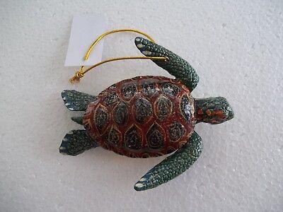 Sea Turtle Tiki Bar & Christmas Ornament Beach Tropical Nautical Decor ST001