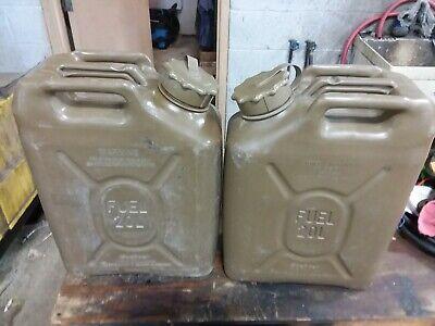 Scepter Plastic Jerry 5 Gallon 20l Fuel Cans Pair