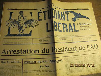 Journal L'Etudiant Libéral Liégeois 14 Décembre 1948 N°3
