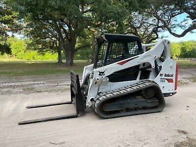 2017 Bobcat T590 Skid Steer Loader - Auxiliary Hydraulics - Wide Tracks