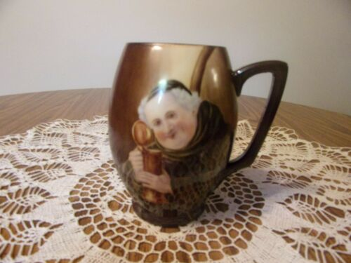 WILLETS MUG WITH MONK SIGNED A.E. SWANSON