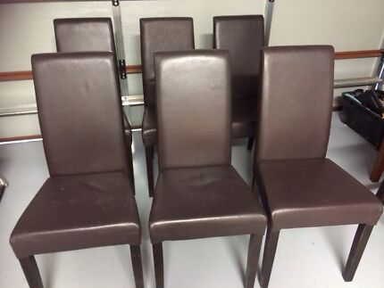 Brown Leather Dining Chairs Kirkham Camden Area Preview