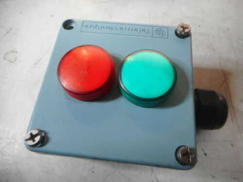 TELEMECANIQUE -- Metal Enclosure with LED RED and GREEN Indicators 24VAC/DC