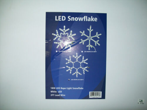 """LIGHT O RAMA ALL THREE DIFFERENT  18"""" LED ROPE LIGHT SNOWFLAKES"""