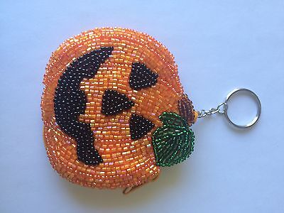 Beaded Halloween Pump Coin Purse & Key Chain W Ring/Fun Gift For Someone Special - Fun Halloween Gifts