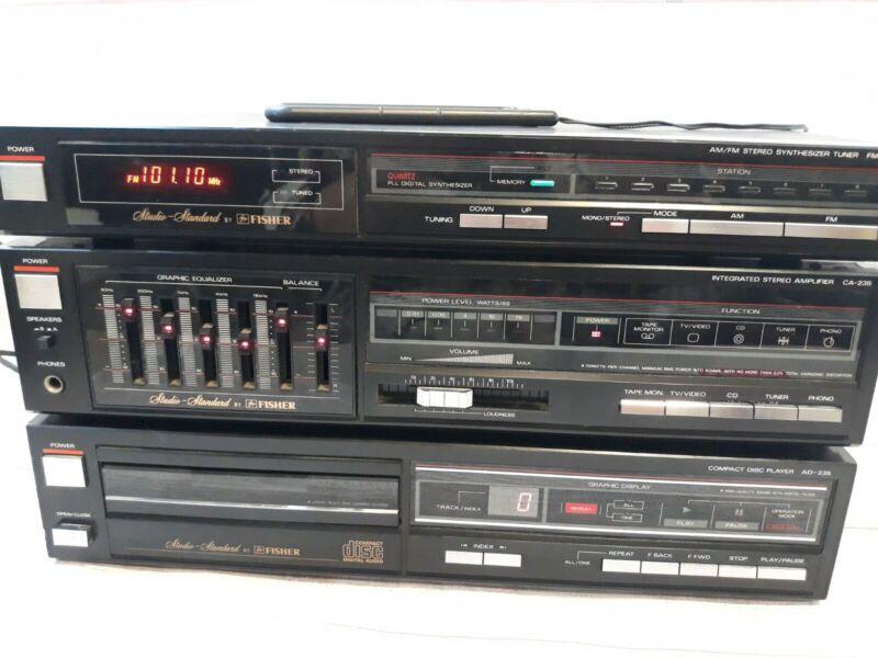 Fisher Studio Standard FM-235 CA-235 & AD-235 AM/FM Stereo Tuner Amp & CD Player