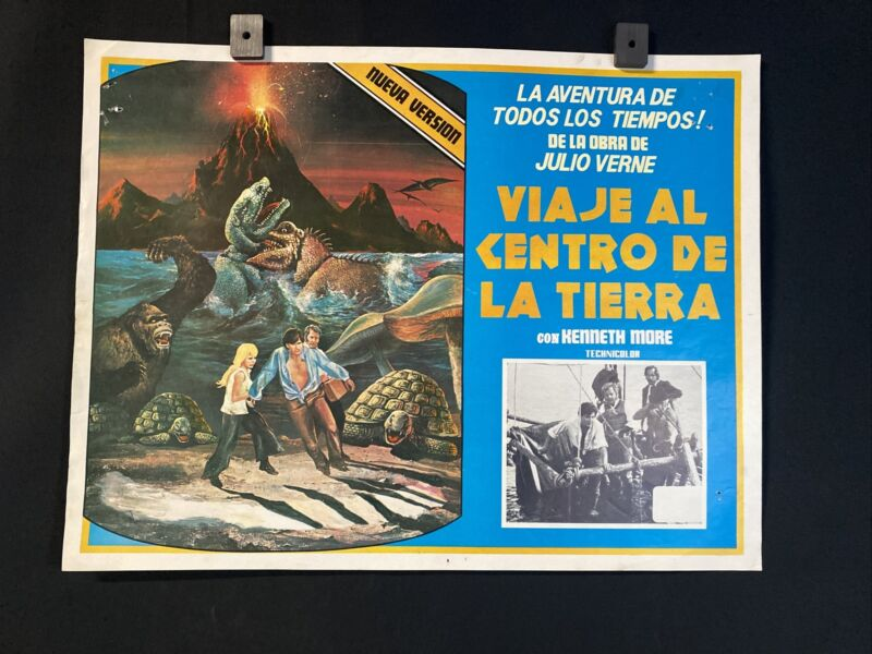 Vnt 1977 KENNETH MORE~ Where Time Began~ Sci-Fi~ Movie Orgnl Mexican Lobby Card
