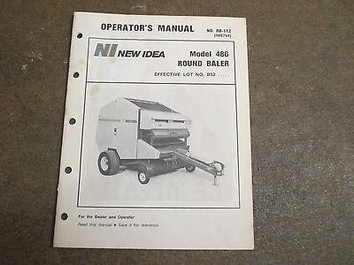 New Idea 486 Round Baler Owners Maintenance Manual
