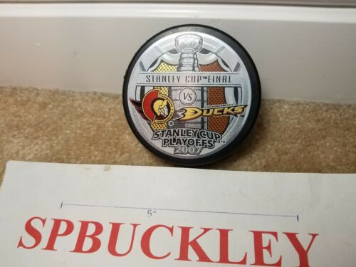 NHL ANAHEIM DUCKS VS OTTAWA SENATORS 2007 STANLEY CUP FINALS HOCKEY PUCK