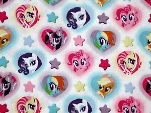 HASBRO MY LITTLE PONY HEART TOSS 100% COTTON FABRIC SPRINGS CREATIVE BY THE YARD