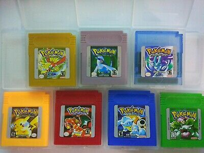 Pokemon Yellow Red Blue Silver Version Gameboy Color Cartridge Nintendo GBC US