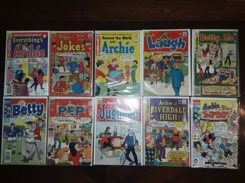 Lot of 1960s & 1970s ARCHIE COMICS 1965 Around The World With Archie JUGHEAD #96