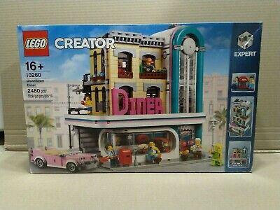 LEGO 10260 Creator Expert Downtown Diner - New - Sealed - Box has wears