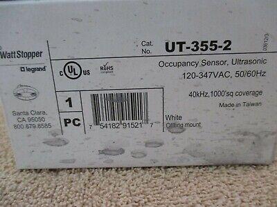 Wattstopper Ut-355-2 Ultrasonic Occupancy Sensor - White - New