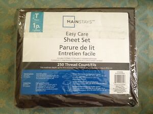Mainstays Twin Bed Sheet Set Brand New