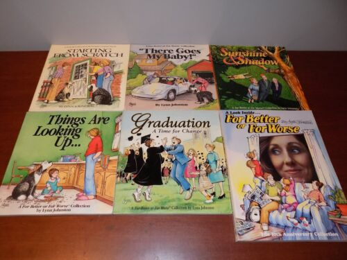 Lot of 7 For Better or For Worse cartoon collection books PB Lynn Johnston