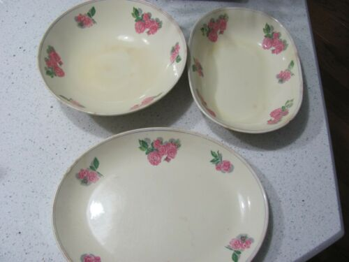 VTG CAVITT SHAW WS GEORGE ROSITA  - 3 PC Lot Serving Dishes