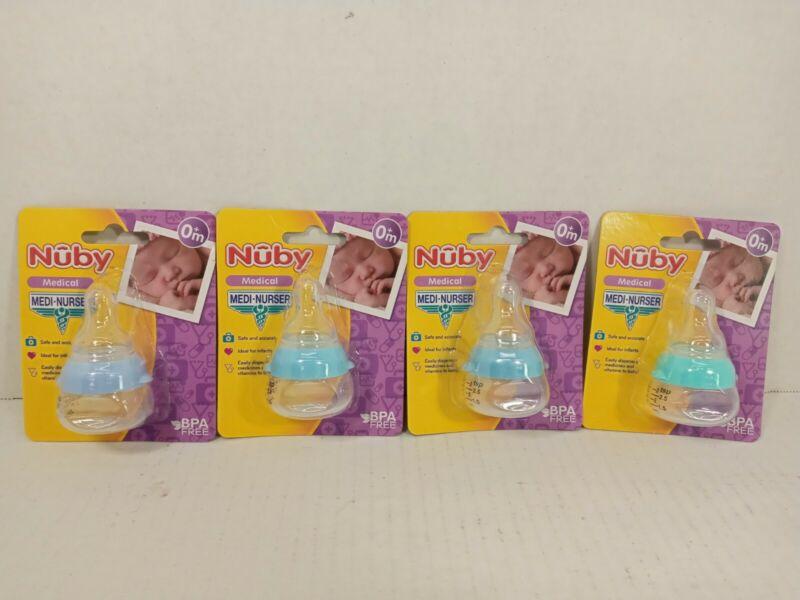 New 4 Pack Nuby Medi-Nurser Medicine Bottles BPA Free