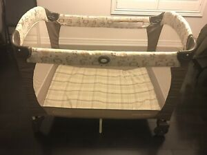 EUC Graco play pen with bassinet