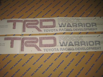 2 Toyota Tundra Rock Warrior TRD Decal Sticker Bed Side Decal Tundra Tacoma OEM