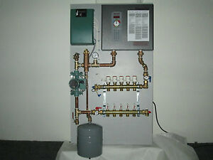 Radiant heat panel system vertical 5 zone with electric heater Electric heating systems homes